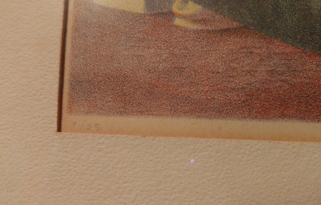 D. Stuart Surrealist Man Signed Numbered Print 1948 - 4