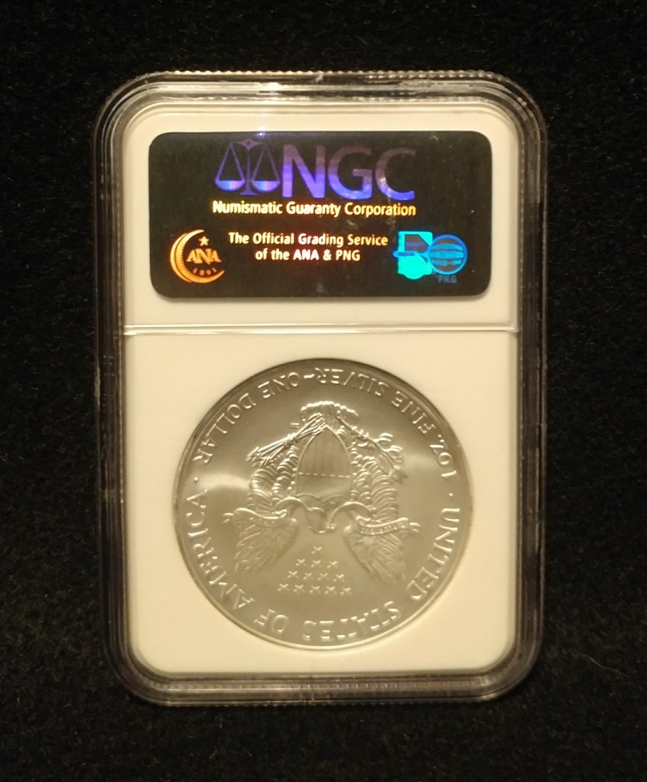 2007 American Silver Eagle NGC Graded MS69 Early Releas - 2