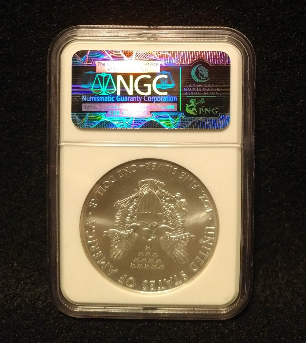 2010 American Silver Eagle NGC Graded MS69 Early Releas - 2