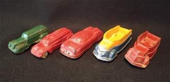 Lot of 5 Vintage Cars and Trucks Auburn Sun Rubber