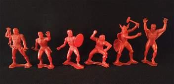 Marx Set Of 6 Marvel Super Hero figures 1967