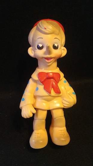1960s Vintage Italy Pinocchio Vinyl Toy Figure 9 Inch