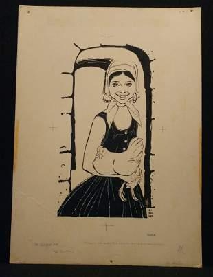 Murray McKeehan 1955 Illustration Original Art