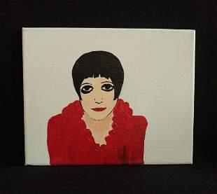 Liza Minnelli Acrylic Portrait Painting on Canvas