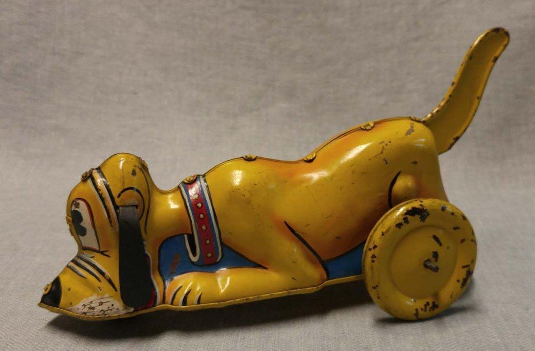 Disney Pluto Lever-Tailed Tin Prototype by Marx 1948