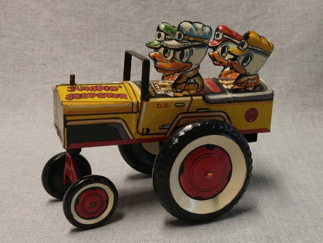 Disney Donald Duck Jumpin Jeepster Prototype by Marx