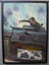 ADVENTURE June 1941 Original Pulp Painting S. Mulford