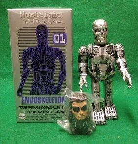 Terminator Tin Litho Japan Wind Up Endoskeleton MEDICOM