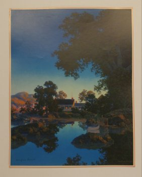 Maxfield Parrish Peace of Evening Signed Print