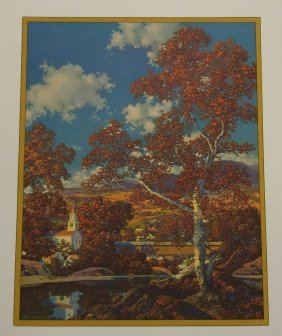 Maxfield Parrish Early Autumn Signed Large Print 1936