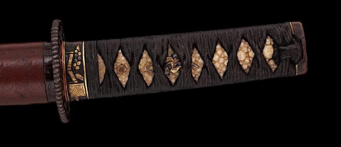 A JAPANESE YOSHIMICHI WAKIZASHI SWORD, CIRCA 1800 - 8