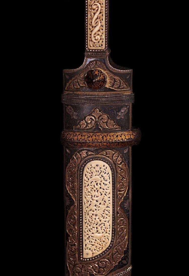 A LARGE RUSSIAN CAUCASIAN KAMA DAGGER, 19TH-20TH C. - 4