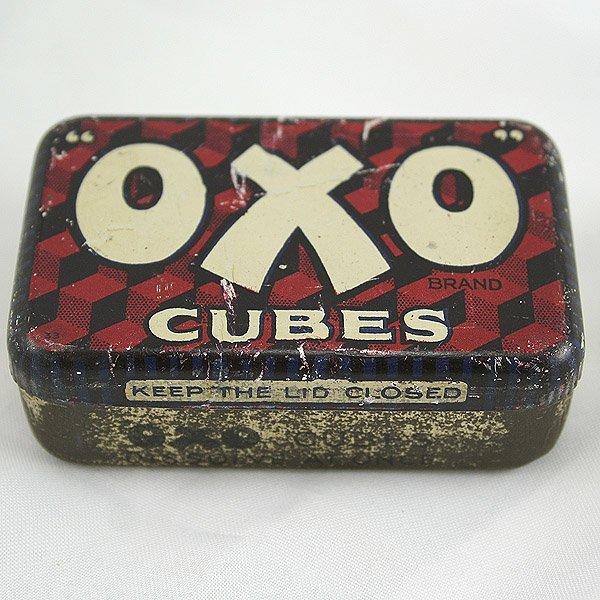 1001: Oxo Cubes Tin 75x45x25mm