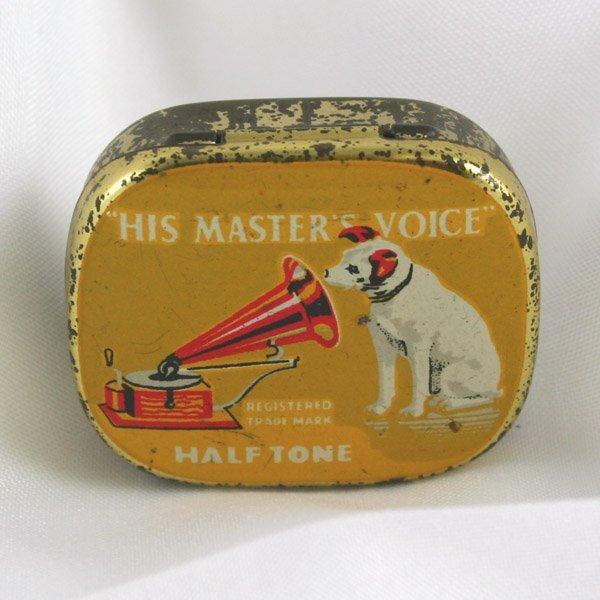 1018: HMV Gramophone needles in original tin!