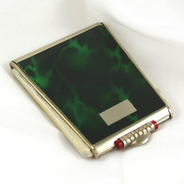 1023: Art Deco Green marble design Compact