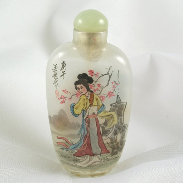 2009: C. 1900 - Hand Painted Chinese Snuff Bottle