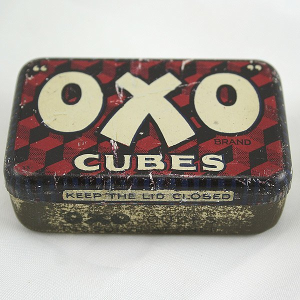 3001: Oxo Cubes Tin 75x45x25mm