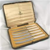 3007: Vintage 1900's Set of Six MOP handled knife set