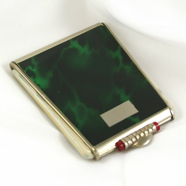 3023: Art Deco Green marble design Compact