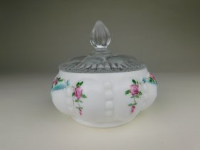 Fenton Hand Painted Candy Dish