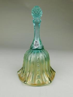 Fenton Carnival Glass Aqua Bell