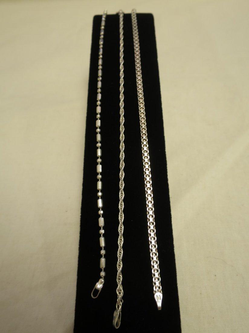 6 Sterling bracelets.