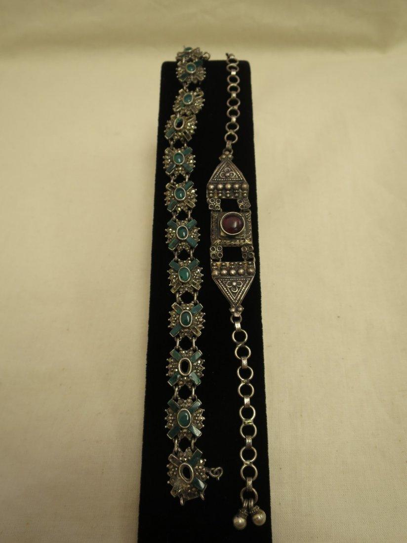 2 Sterling bracelets.