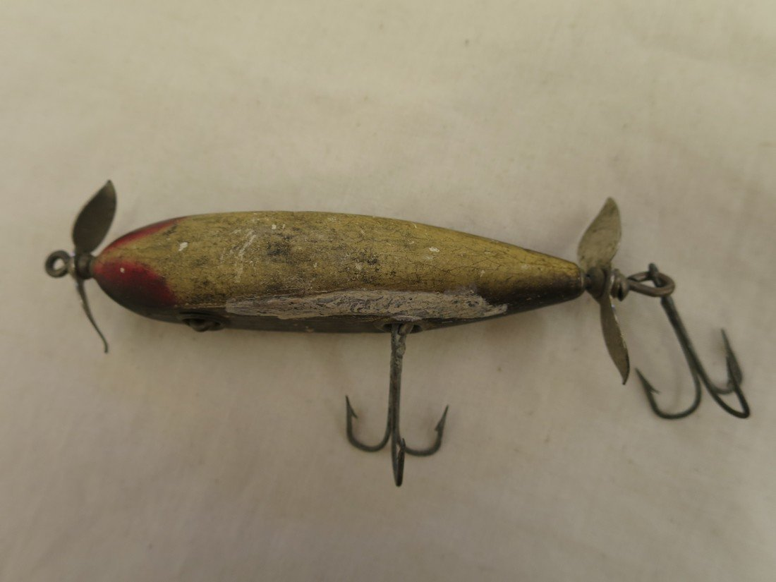 Antique wooden fishing lure.