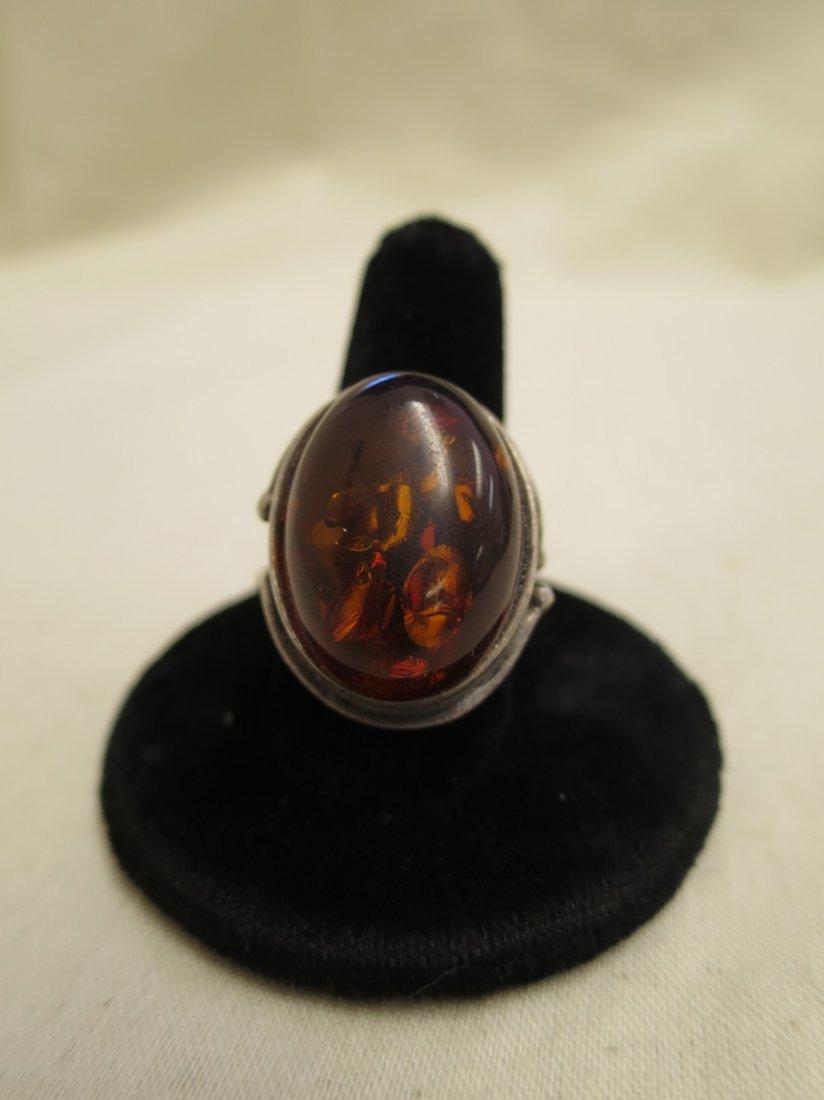 Sterling ring.