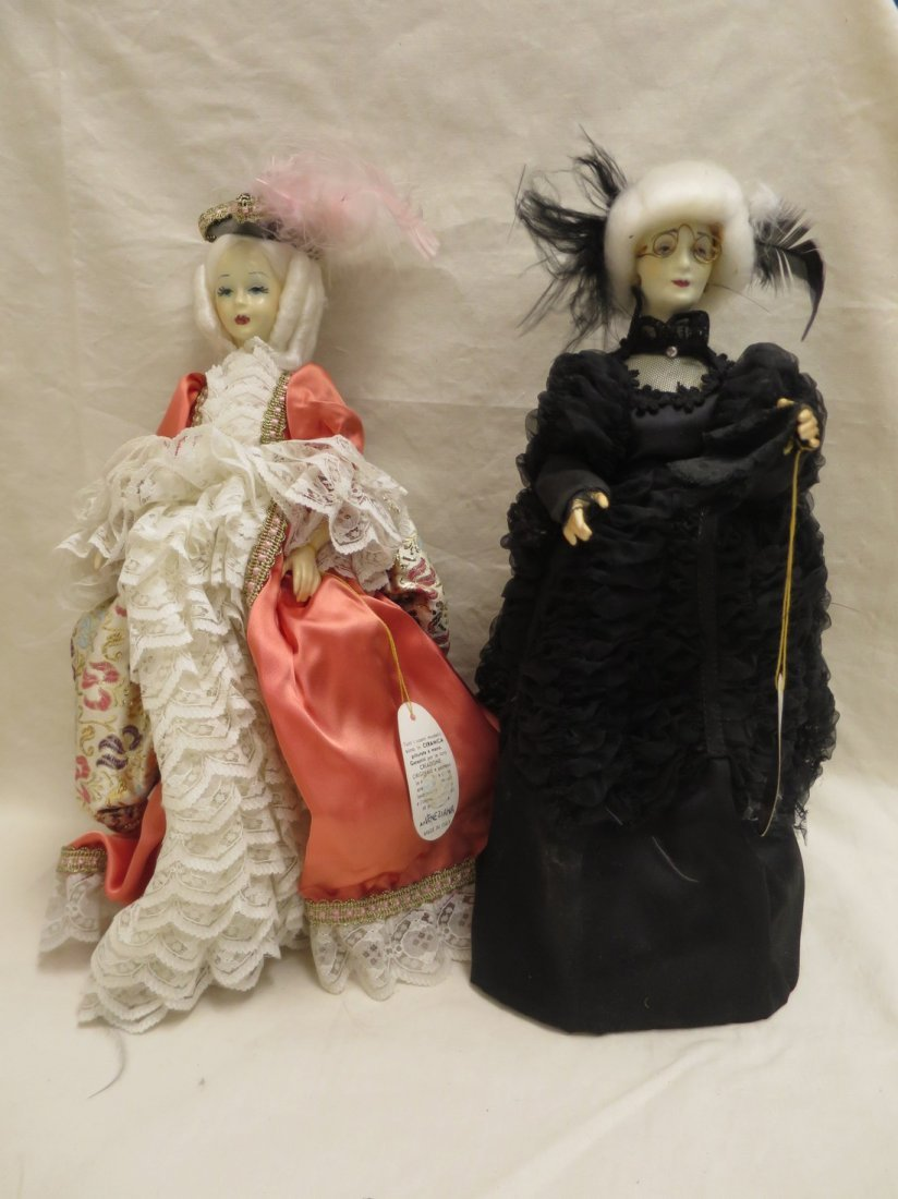 2 Galef Creazioni Esclusive dolls. Veneziana and Biee.
