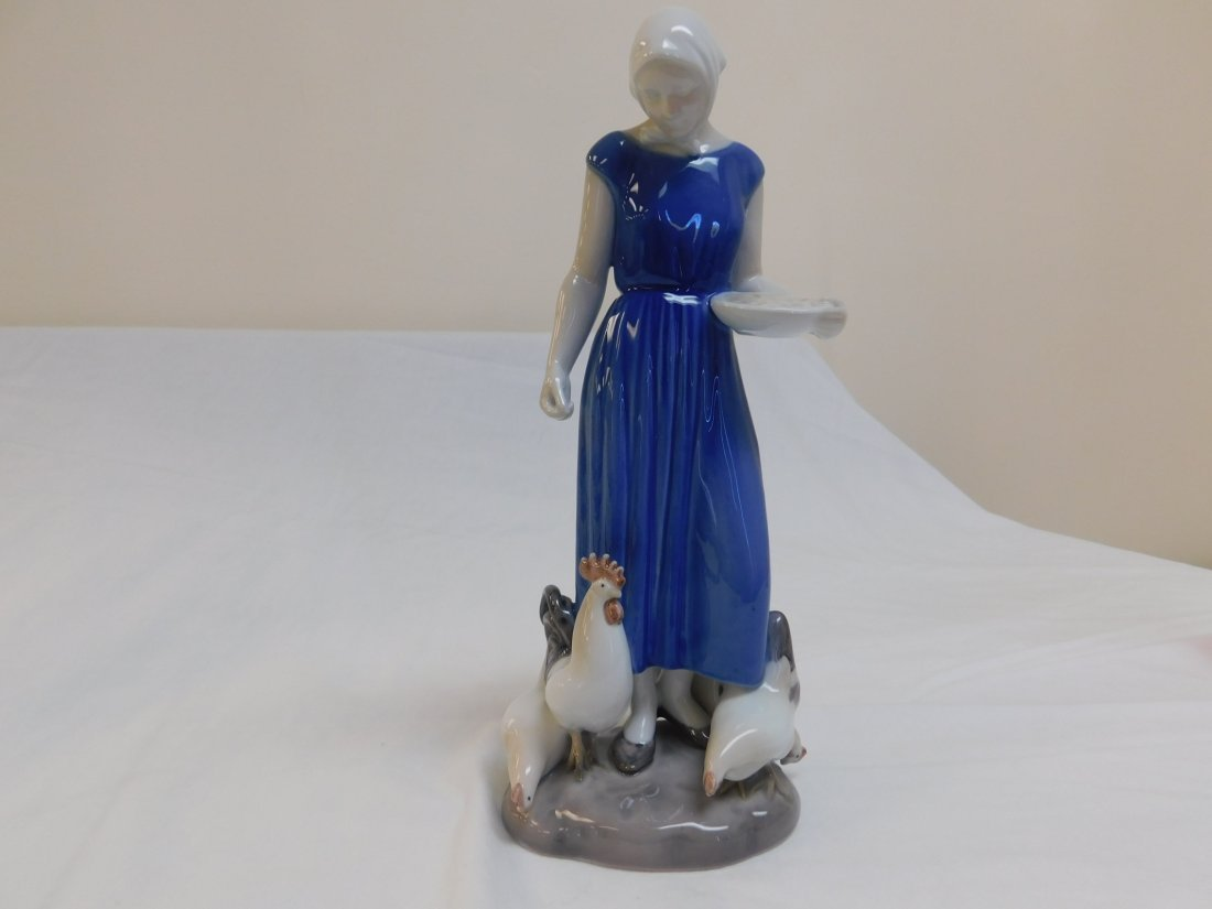 B&G Poultry Girl Figurine