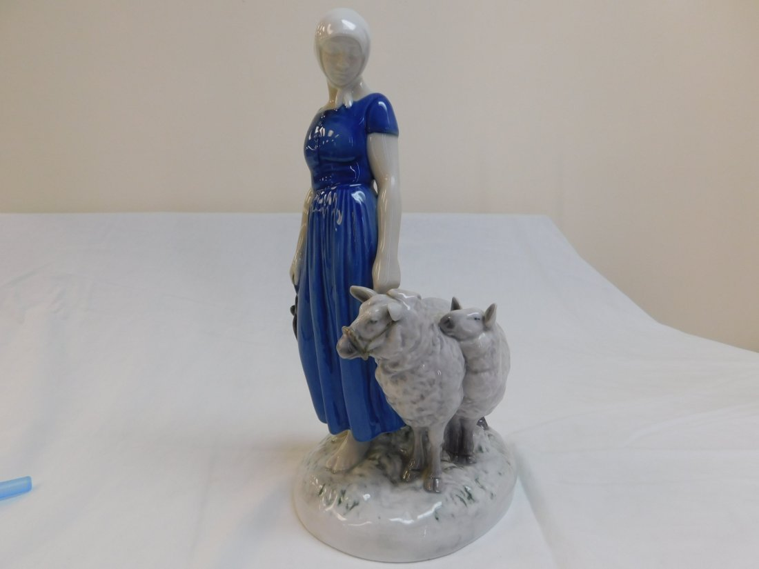 B&G Women with Sheep Figureine,#2010 - 2