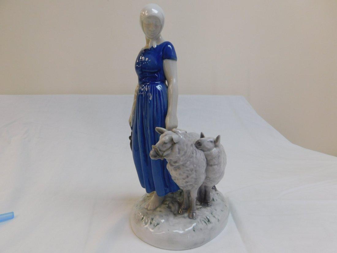 B&G Women with Sheep Figureine,#2010 - 2