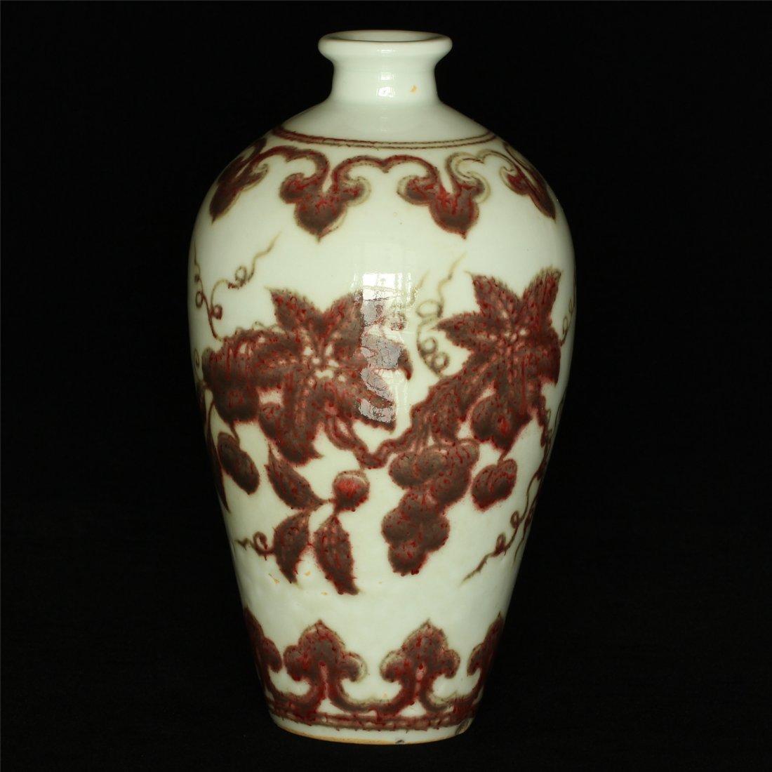 Underglaze red porcelain vase of Ming Dynasty XuanDe - 10