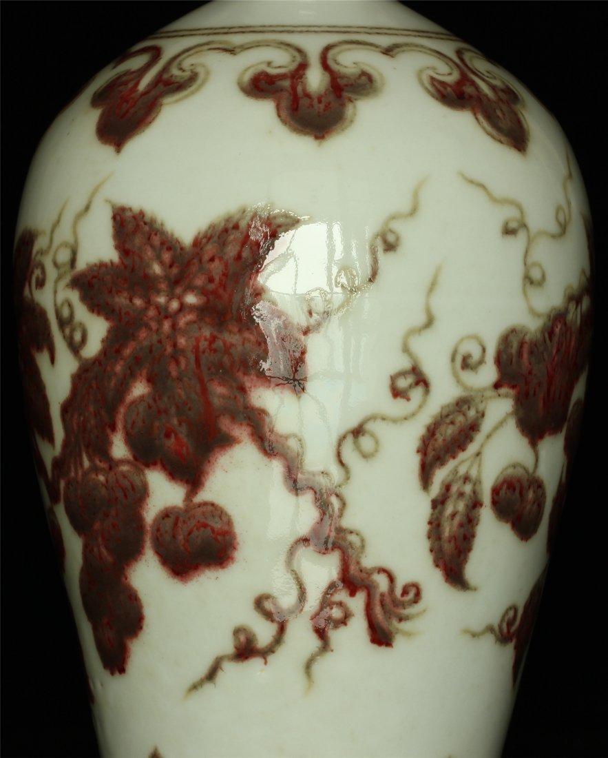 Underglaze red porcelain vase of Ming Dynasty XuanDe - 4
