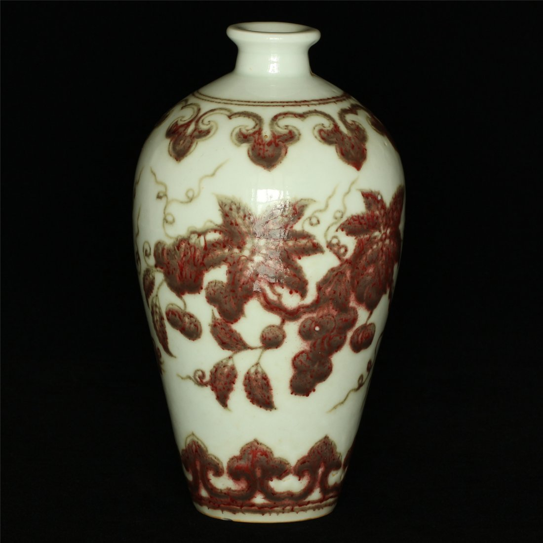 Underglaze red porcelain vase of Ming Dynasty XuanDe - 9