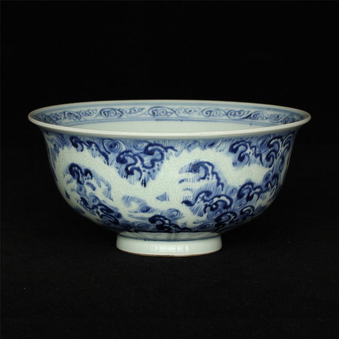 Blue and white porcelain bowl.