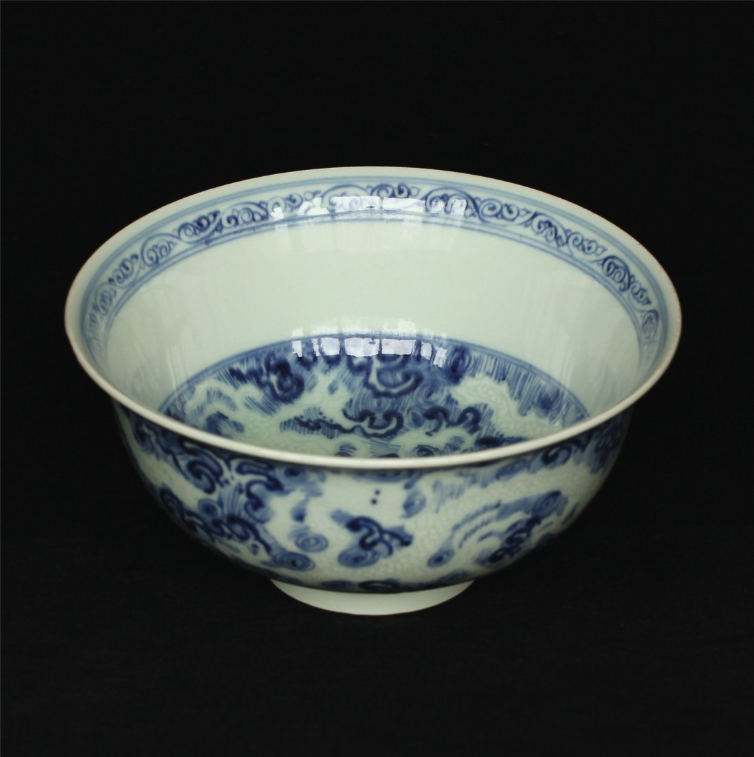 Blue and white porcelain bowl. - 3