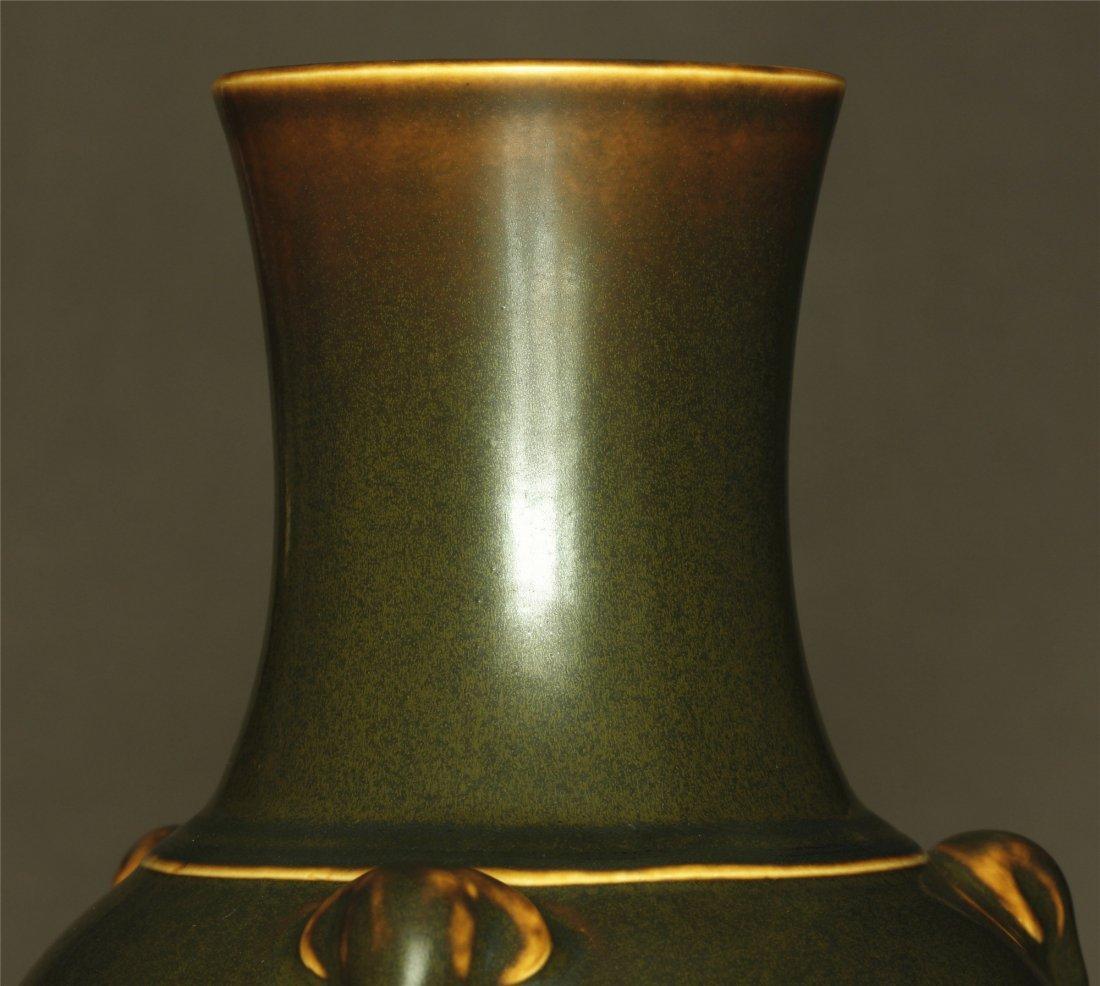 Tea glaze porcelain vase of Qing Dynasty QianLong - 4