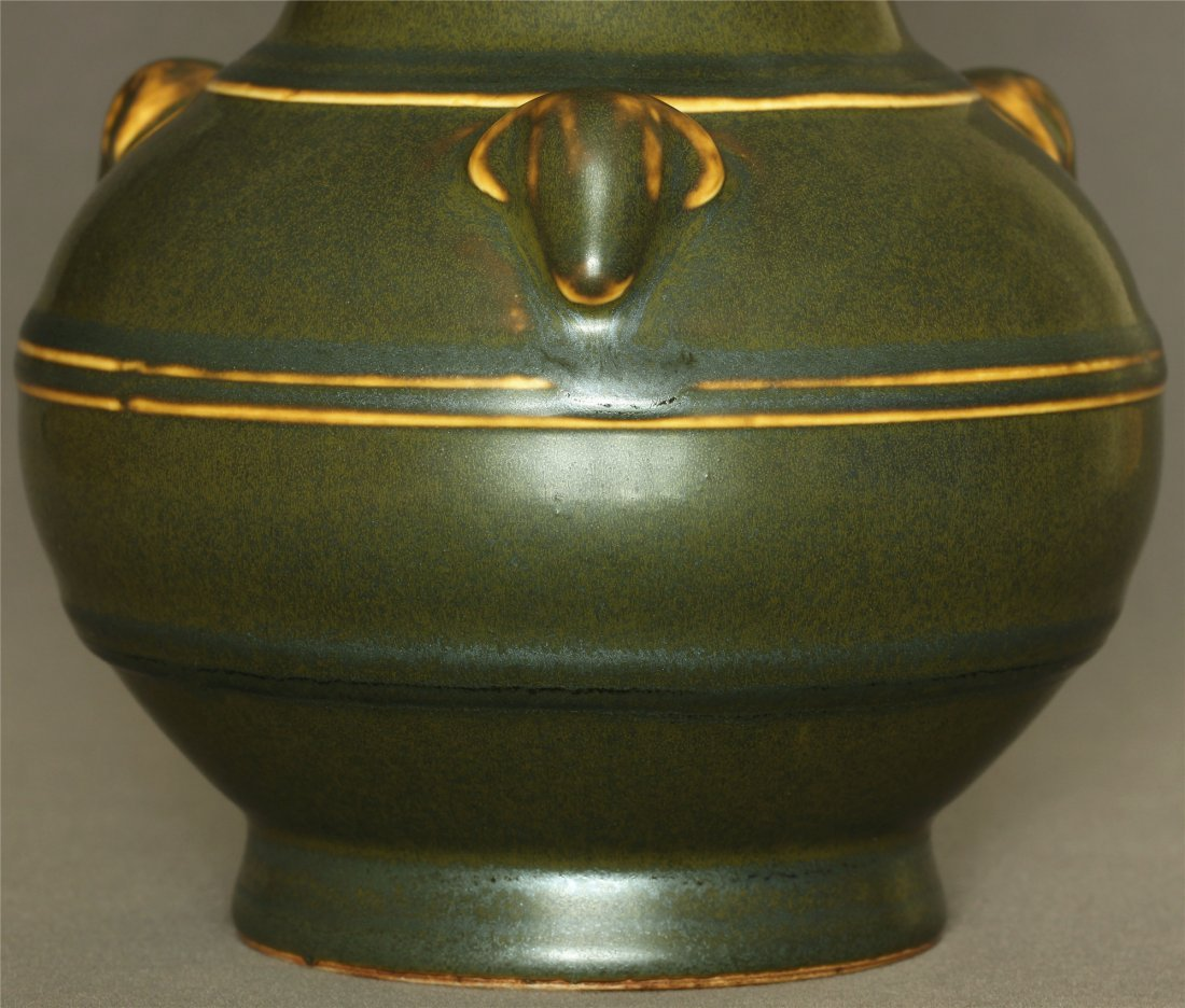 Tea glaze porcelain vase of Qing Dynasty QianLong - 5
