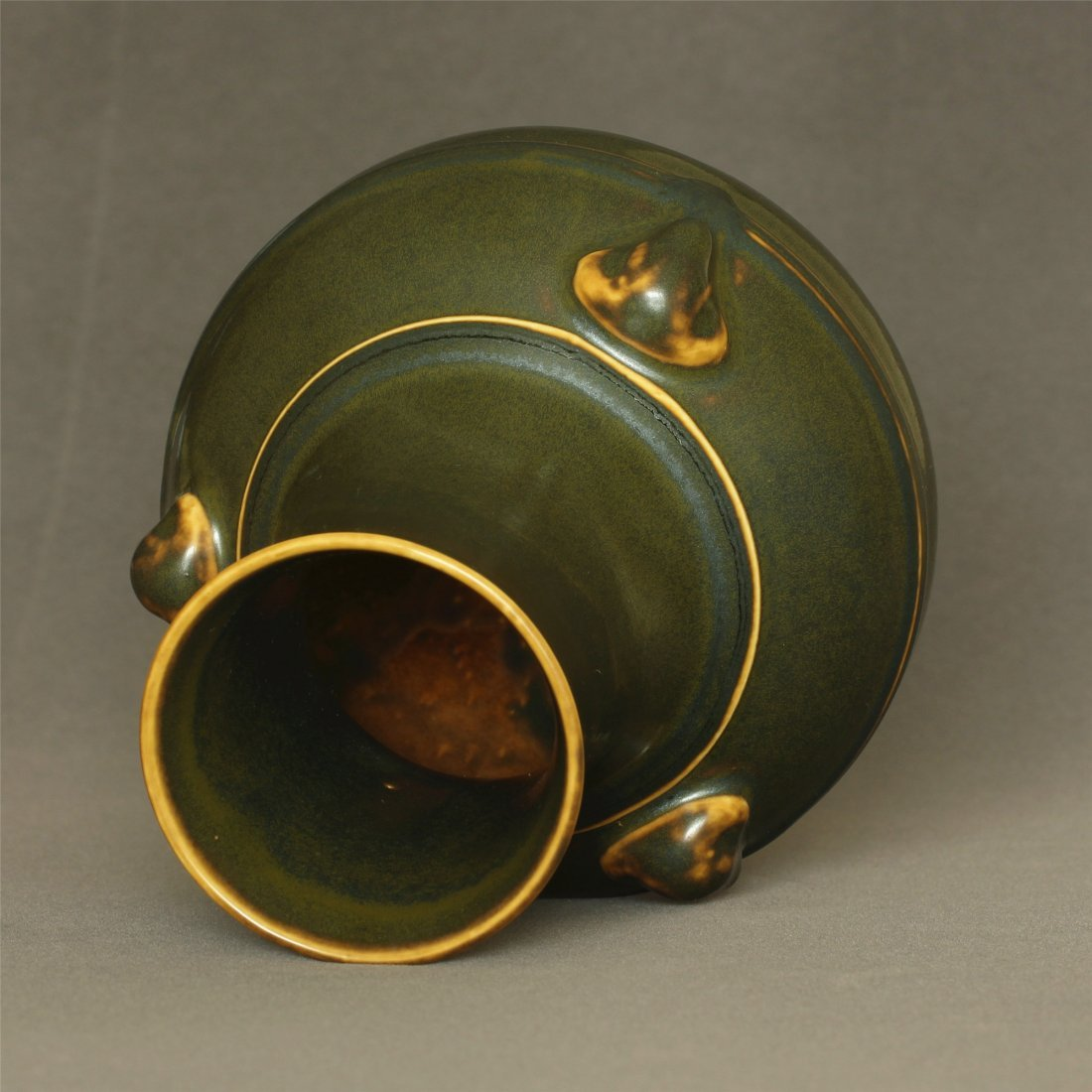 Tea glaze porcelain vase of Qing Dynasty QianLong - 6