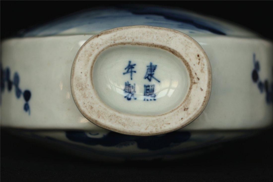 Blue and white porcelain vase of Qing Dynasty KangXi - 2