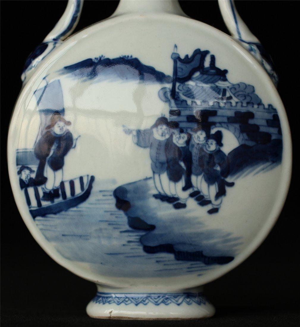 Blue and white porcelain vase of Qing Dynasty KangXi - 5