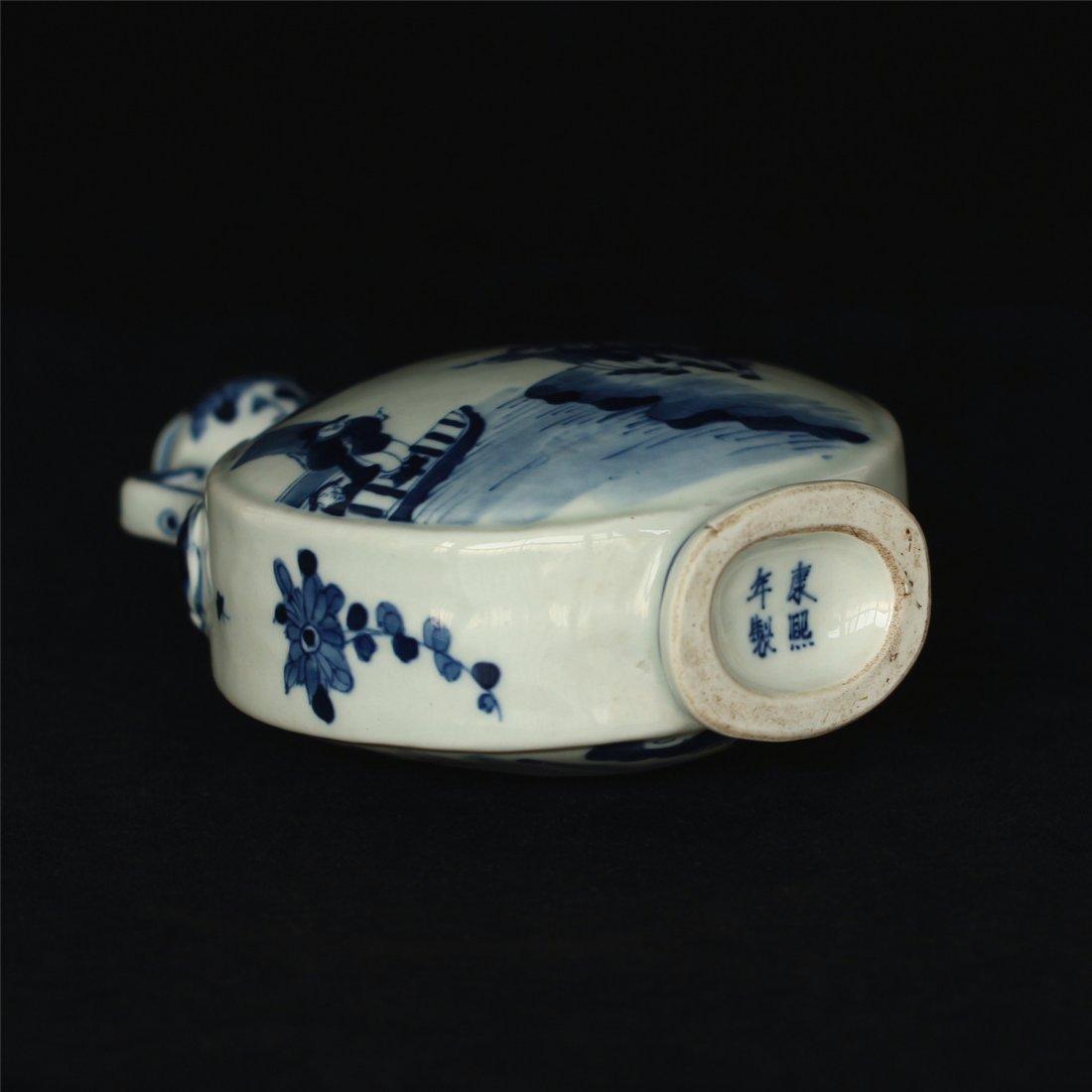 Blue and white porcelain vase of Qing Dynasty KangXi - 7