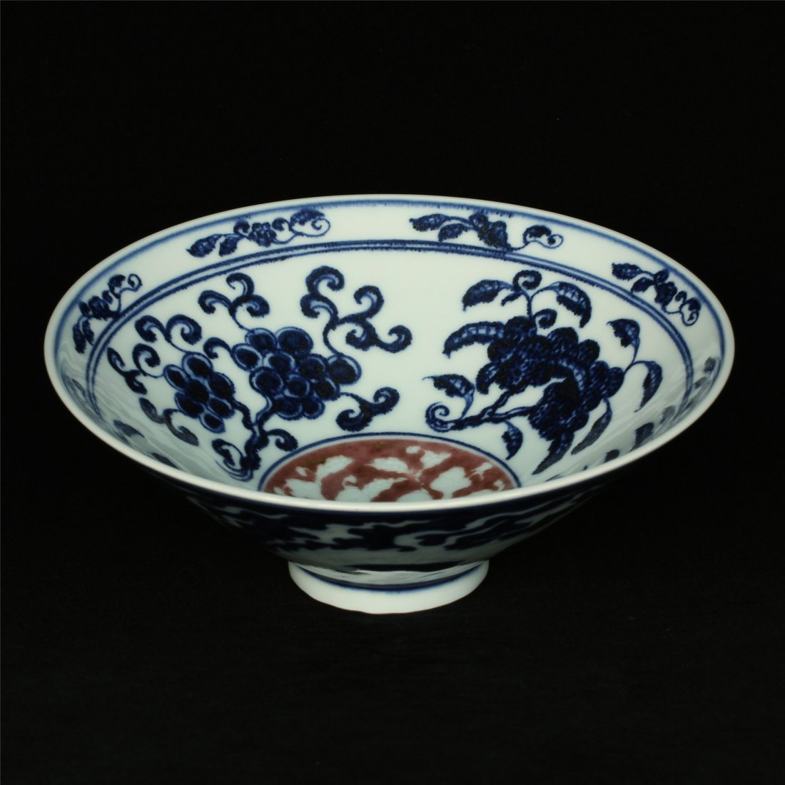 Blue and white & underglaze red porcelain bowl of Ming - 3