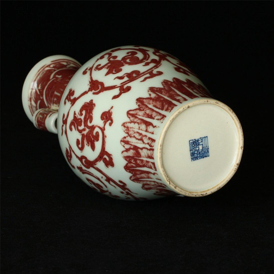 Underglaze red porcelain vase of Qing Dynasty QianLong - 6