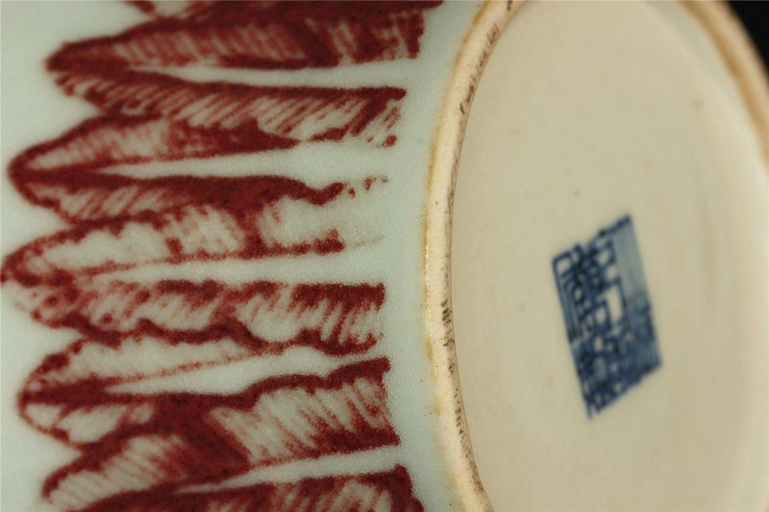 Underglaze red porcelain vase of Qing Dynasty QianLong - 8