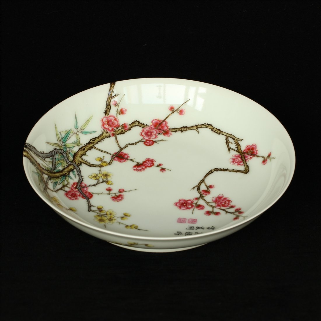 Famille rose porcelain plate of Qing Dynasty YongZheng - 5