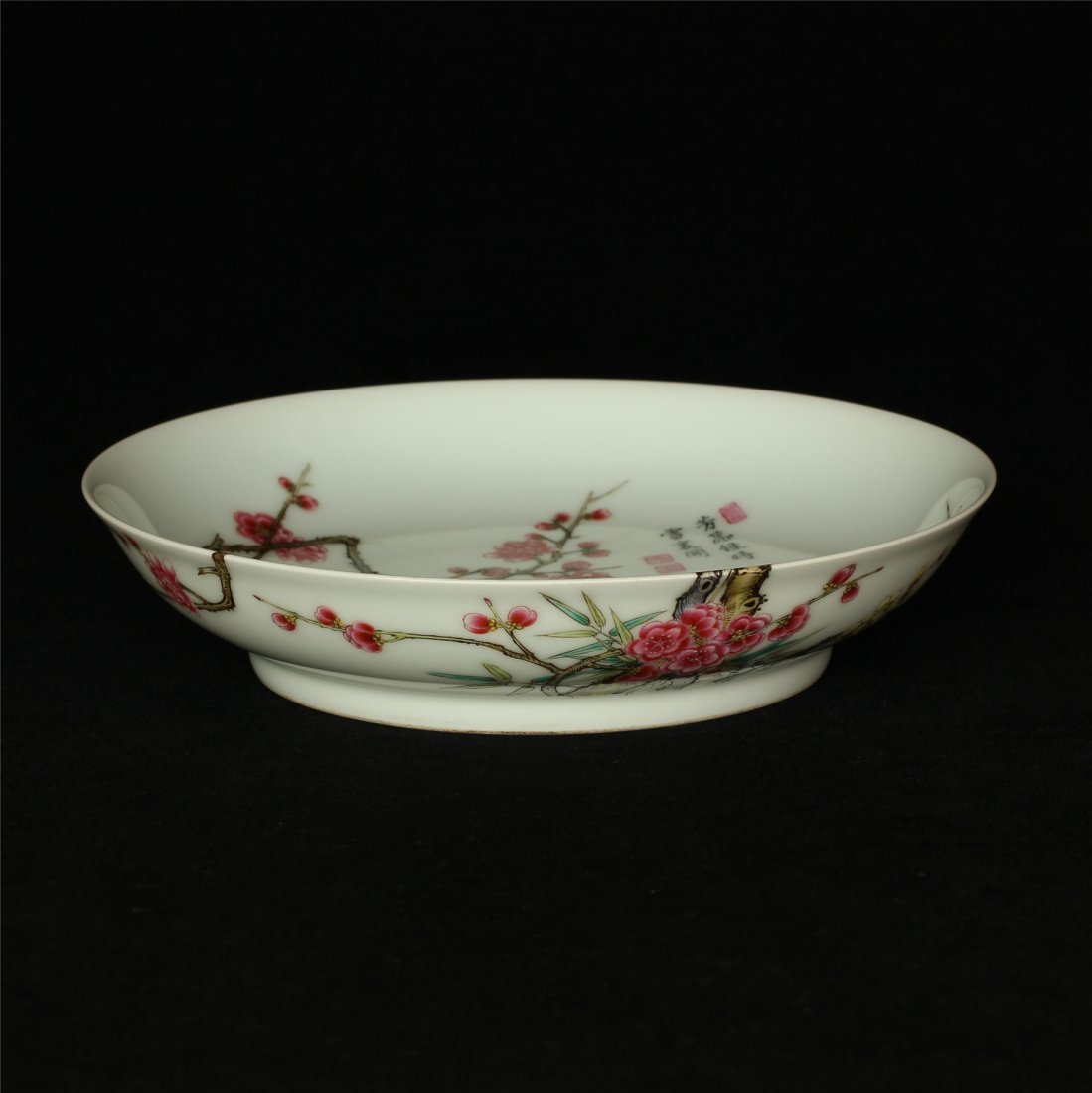 Famille rose porcelain plate of Qing Dynasty YongZheng - 6