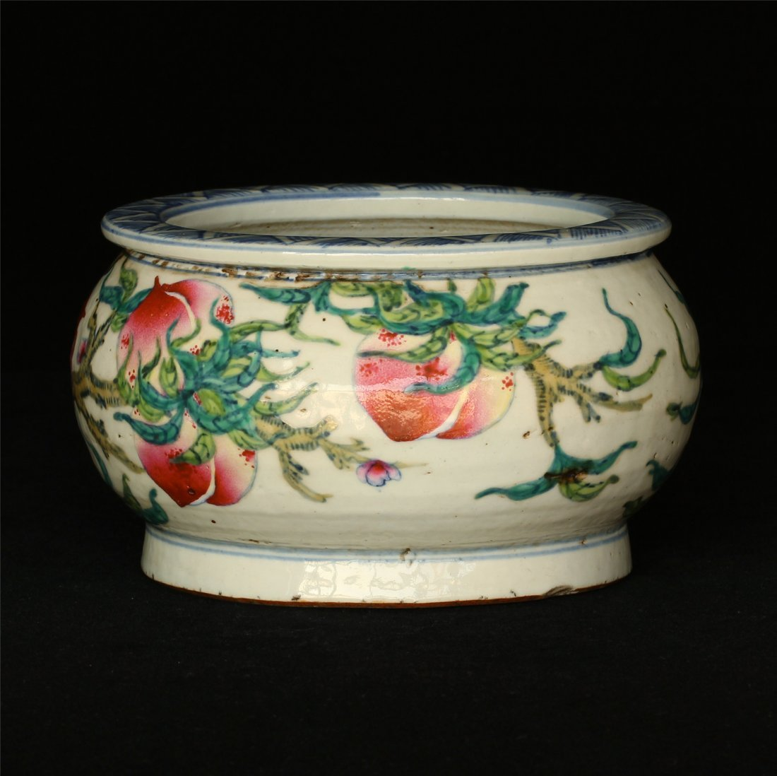 Famille rose porcelain jar.